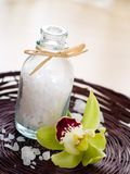 Jar of sea salt Royalty Free Stock Photo