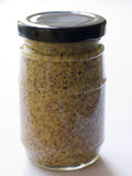 Jar Of Seed Mustard Royalty Free Stock Image