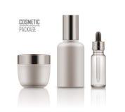 Jar, serum, essence in vial Royalty Free Stock Images