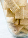 Jar of Shortbread Finger Biscuits.  Royalty Free Stock Photography