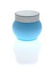 Jar with skin care cream Royalty Free Stock Photography