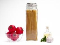 Jar of spaghetti Royalty Free Stock Image