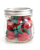 Jar of Strawberries Royalty Free Stock Images