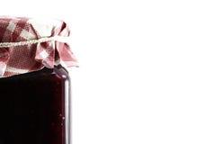 Jar of strawberry and soft fruits jam Stock Photos