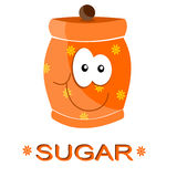 Jar of sugar Stock Image