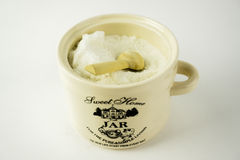 Jar of sugar Stock Photo