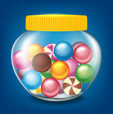 Jar of sweets. Vector illustration of jar of sweets Stock Photo