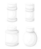 Jar tablet set Flat design style  illustration. Royalty Free Stock Photo