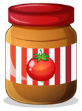 A jar of tomato jam Stock Photo