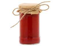 Jar of tomato paste Stock Photo