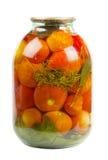 Jar of tomatoes Stock Image