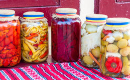 Jar of traditional pickles Stock Images