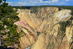 jar uroczysty rzeczny Yellowstone Obrazy Royalty Free
