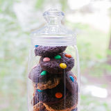 A jar of variety cookies. Stock Photos