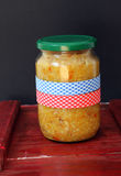 Jar with vegetables Royalty Free Stock Photography