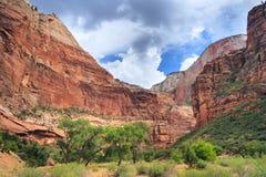 Jar w Zion parku narodowym w Utah zdjęcia stock