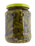 Jar whit cucumbers Stock Images