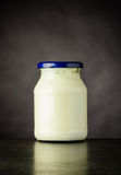 Jar of White Yoghurt Stock Photos