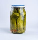 Jar With Cucumbers Stock Photos