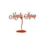 Jarabe de arce Logo Sign Design Background Imagen de archivo