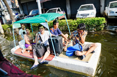 Jaransanitwong Road during the worst flooding Stock Photos