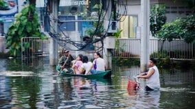 Jaransanitwong Road during the worst flooding Stock Photo