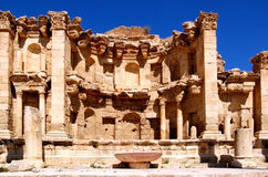 Jarash - Jordan. Jerash, the Gerasa of Antiquity, is the capital and largest city of Jerash Governorate, which is situated in the north of Jordan, 48 km (30 Stock Image