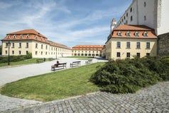 Jardín adyacente al castillo Bratislava Eslovaquia Europa Fotos de archivo