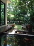 Jardín al aire libre fotos de archivo