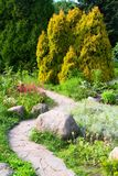 Jardín alpestre foto de archivo