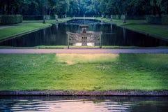 Jardín alrededor del castillo De Haar foto de archivo