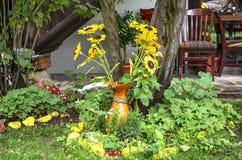 Jardín búlgaro del patio imágenes de archivo libres de regalías