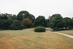 Jardín botánico con una charca hermosa en Kyoto fotos de archivo
