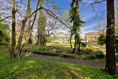 Jardín botánico de la opinión de la flora de Zagreb Fotografía de archivo
