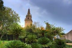 Jardín botánico en Barcelona España Foto de archivo