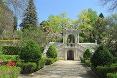 Jardín botánico en Coímbra Foto de archivo libre de regalías