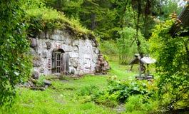 Jardín botánico en las islas de Solovetsky al norte de Rusia Karelia Fotos de archivo