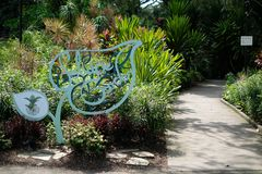 Jardín botánico en Singapur Fotografía de archivo libre de regalías