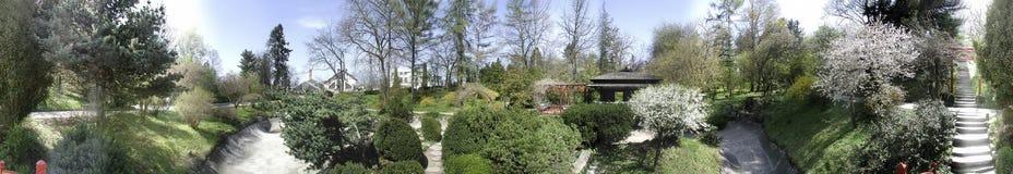 Jardín botánico, 360 grados de panorama Fotos de archivo