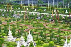 Jardín botánico tropical de Nong Nooch Fotografía de archivo libre de regalías