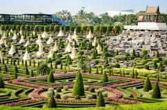 Jardín botánico tropical de Nong Nooch Imágenes de archivo libres de regalías