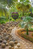 Jardín botánico tropical de Nong Nooch, Pattaya, Tailandia Imagen de archivo libre de regalías