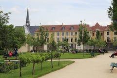 Jardín Catherine-Laboure, París Imagenes de archivo