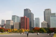 Jardín cerca del palacio imperial, Tokio foto de archivo
