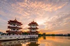 Jardín chino de Singapur Fotos de archivo libres de regalías