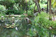 Jardín clásico del chino tradicional, sur de China Imagen de archivo