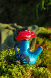 Jardín con la decoración florística, diseño del floristics Imágenes de archivo libres de regalías