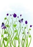 Jardín con las plantas púrpuras libre illustration