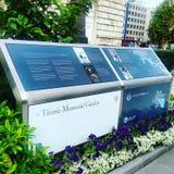 Jardín conmemorativo titánico imagenes de archivo