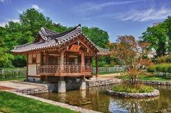 Jardín coreano en Uni el campus Westend Foto de archivo libre de regalías